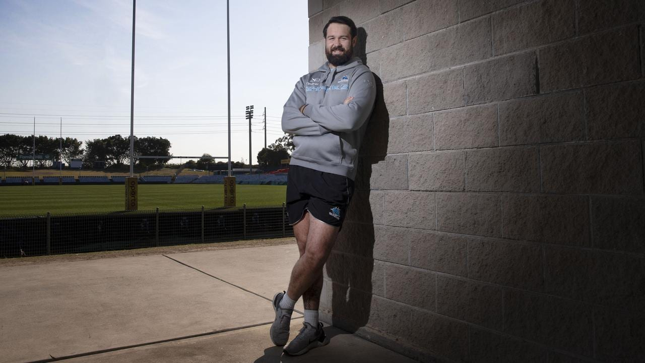 Aaron Woods joined the Sharks in Round 16. Picture: Richard Dobson