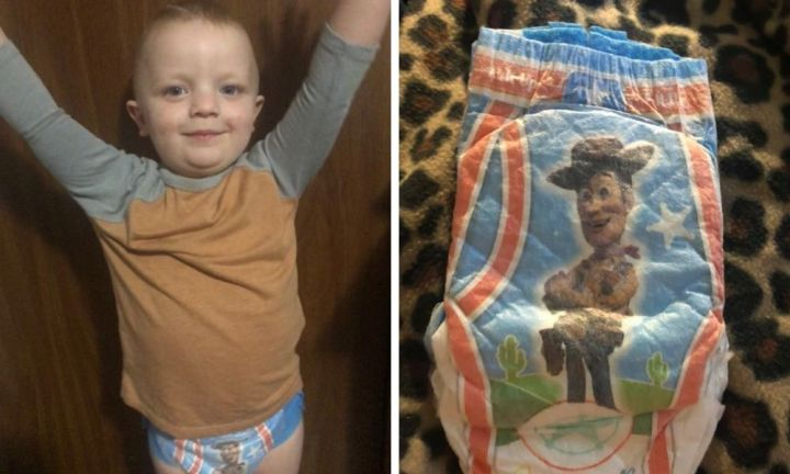 Toddler's hilarious response to Huggies Pull-Ups
