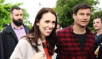 Jacinda and Clarke have been thrust into the political spotlight. Photo: Hannah Peters/Getty Images