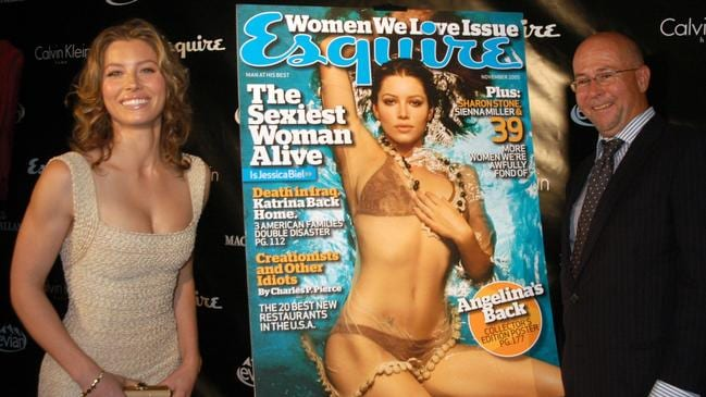 Jessica Biel at her Esquire magazine unveiling as the magazine's 2005 Sexiest Woman Alive in 2005. Picture: AP Photo/John Smock