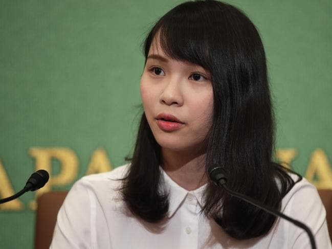 Hong Kong activist Agnes Chow has slammed the Hong Kong government's efforts to push through a law allowing extradition of suspects to mainland China. Picture: AP Photo/Jae C. Hong