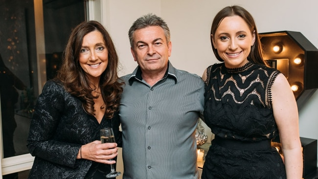 Karen Ristevski with her husband Borce Ristevski and daughter Sarah. Supplied