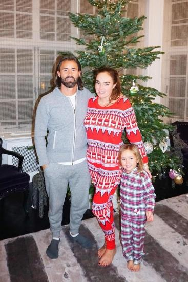 Tamara, Jay and little Sophia in a cozy photo posted earlier this week. Source: Instagram