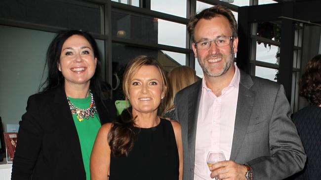 News Life Media CEO Nicole Sheffield with Donna Hay and James Kellow at the Donna Hay Pop Up Store Launch at the Entertainment Quarter in Moore Park. Picture: Christian Gilles