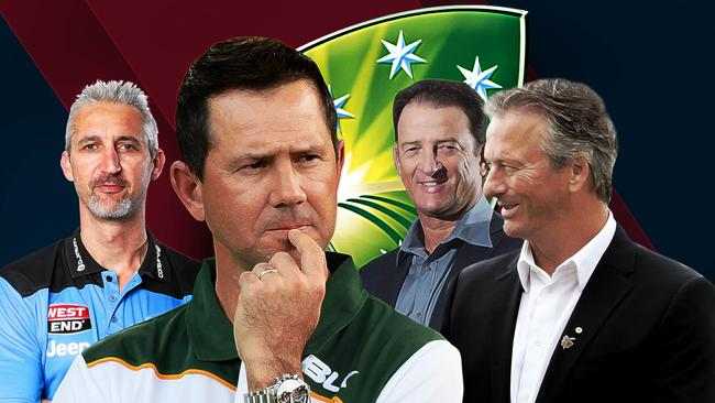 Jason Gillespie, Ricky Ponting, Mark Waugh and Steve Waugh (left to right) are all in the mix to be chief selector.