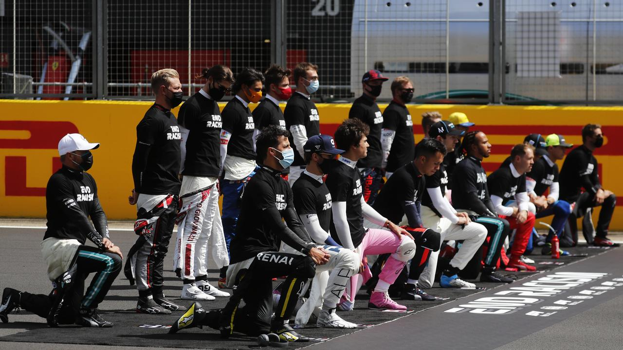 Seven drivers still refused to kneel.