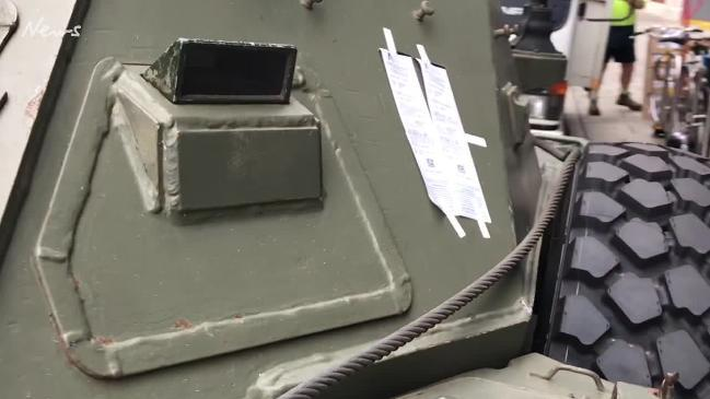 Armoured vehicle given parking ticket in Adelaide's CBD