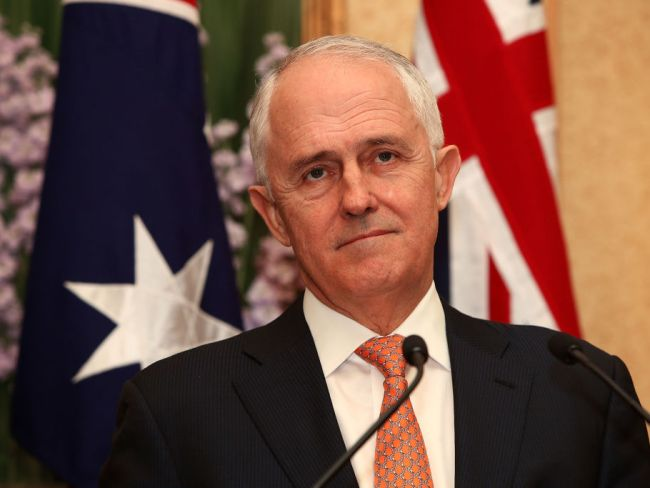 Prime Minister Malcolm Turnbull, downcast. Photo: Lisa Maree Williams/Getty Images.