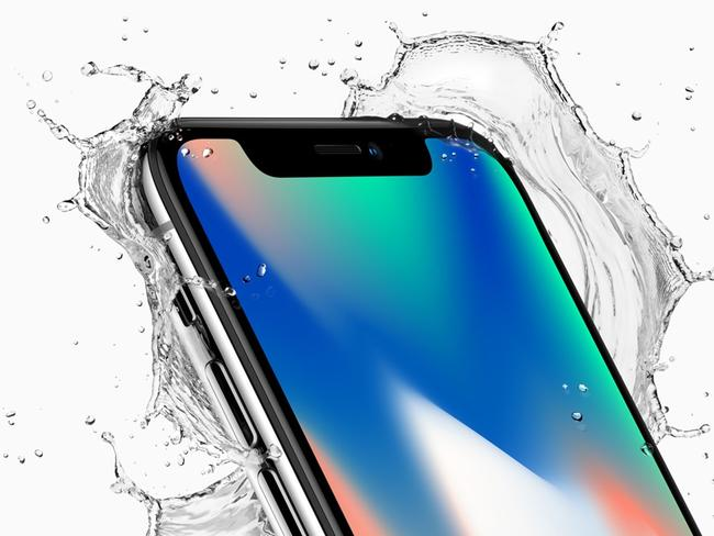 iPhone X was unveiled today in the US at Apple. Picture: Apple