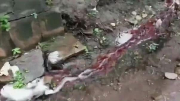 In 2016, a disturbing viral video posted on social media showed a red liquid pouring from a drain outside a home in Bujumbura's Kinindo region, in the African nation's west. Source: BBC