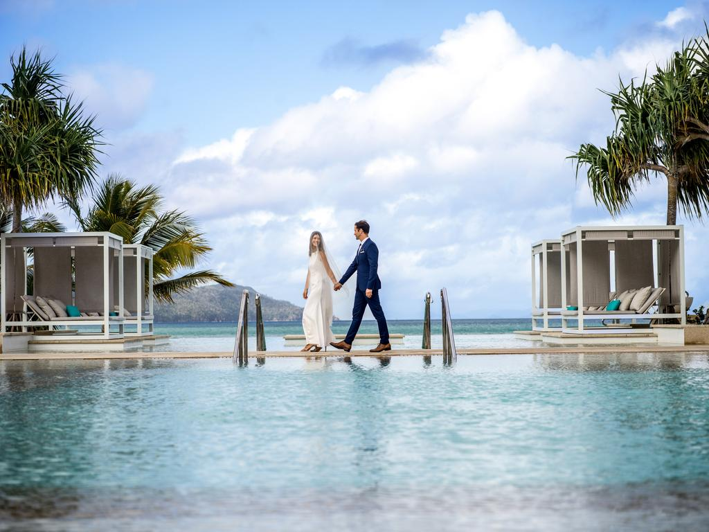 "InterContinental Hayman Island general manager, Arpad Romandy, said love is well and truly in the air in the Whitsundays with a higher number of ""elopement enquiries"". Picture: IHG"