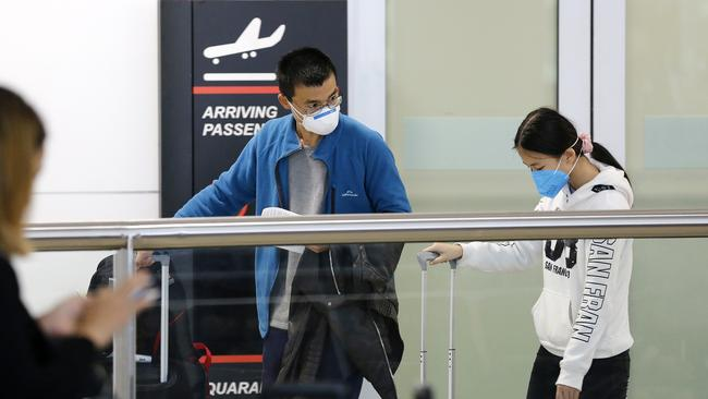 The government announced a travel ban for foreign nationals on Saturday. Picture: Josh Woning/AAP