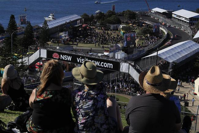Crowd watches inaugural Supercars race at the Newcastle 500. Pic: Mark Horsburgh.