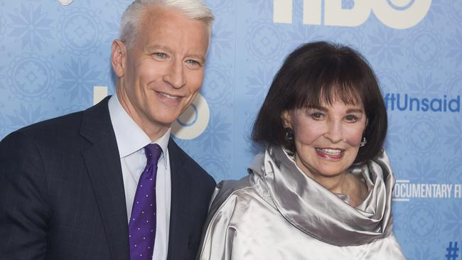 CNN anchor Anderson Cooper won't receive an inheritance from his late mum Gloria Vanderbilt. Picture: Charles Sykes/Invision/AP