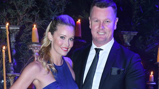 Kelly Landry and Anthony Bell recently bought a house in Noosa. Photo: Belinda Rolland.
