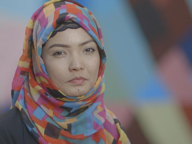 Rahila, 22, said she was nervous about wearing the niqab for the experiment. Picture: SBS
