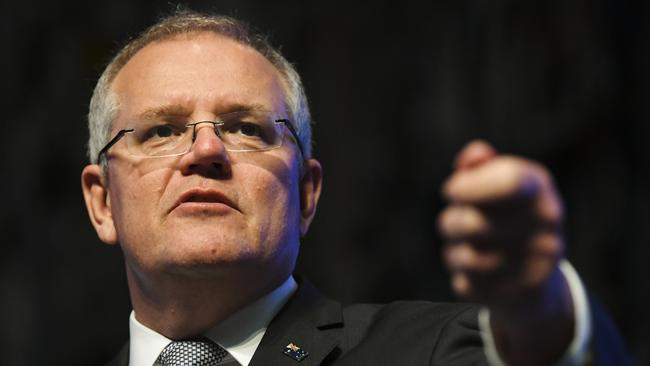"Scott Morrison has launched an attack on the ""Canberra bubble"" and those apparently inside it. Picture: AAP"