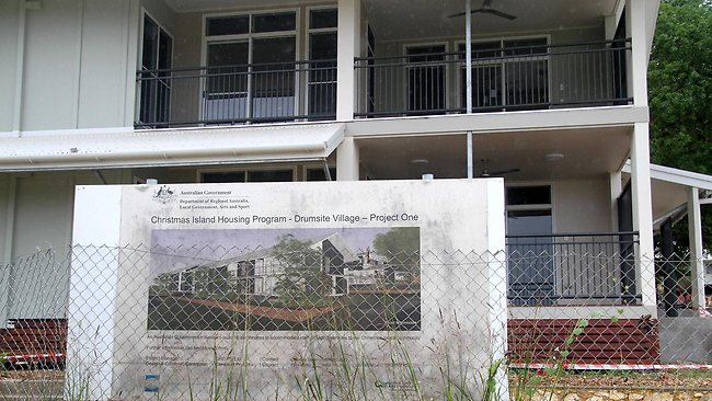 Advanced construction can be seen on the Federal Government's latest housing initiative - The Christmas Island Housing Program. Drumsite Village is touted to be accommodation for staff such as teachers and nurses required to care for the Island's burgeoning asylum seeker population.