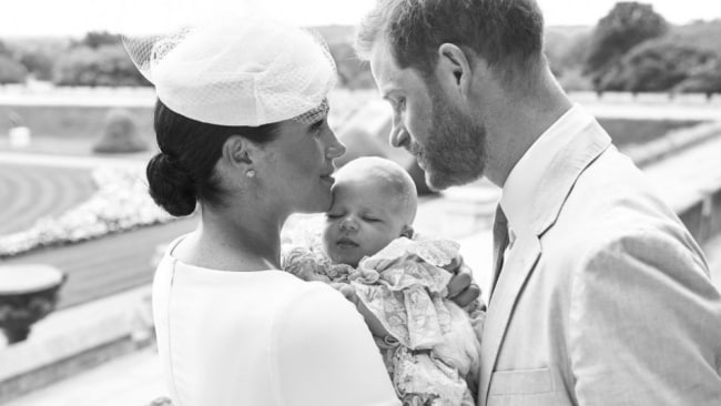 The sleek bun makes an appearance at Archie's christening. Image: Getty