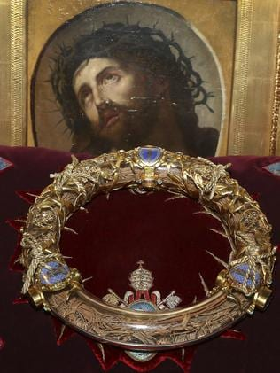 The crown of thorns which was believed to have been worn by Jesus Christ. Picture: Remy de la Mauviniere