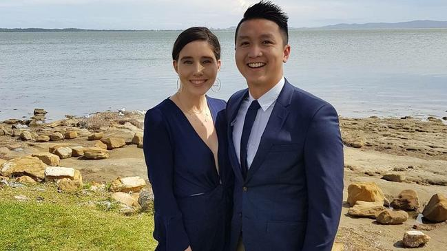 Emily McDonagh and boyfriend Sunny Wu entertain at home when saving for holidays.