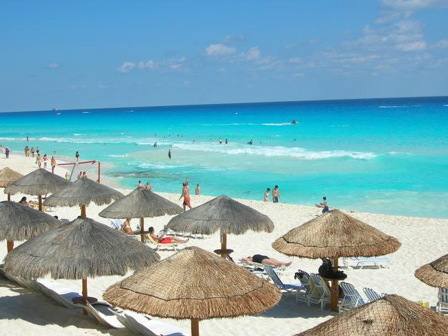 The blue waters of Tulum in Mexico.