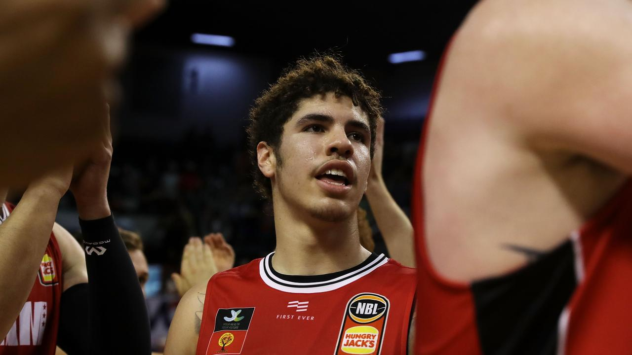 LaMelo Ball says he is his own man. (Photo by Mark Kolbe/Getty Images)