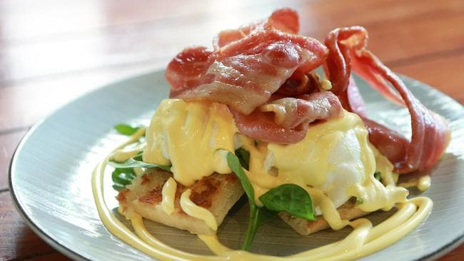 Eggs Benedict at Whiskey Business Cafe, Capalaba. Picture: AAP/Sarah Marshall