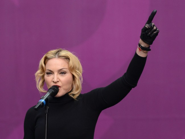 Madonna on stage at the Chime For Change concert at Twickenham Stadium in 2013. Photo: Karwai Tang/WireImage