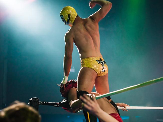 The Lucha Fantastica team includes a diverse group of Mexican and Australian performing artists. Picture: Declan Lee