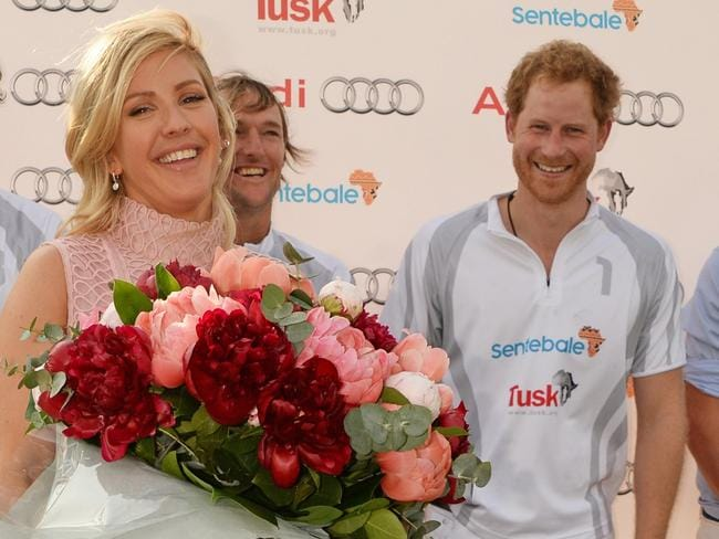 Ellie Goulding and Prince Harry at the Audi Polo Challenge last weekend.