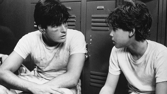 Charlie Sheen and Corey Haim starred together in the 1986 movie Lucas. Picture: Supplied.