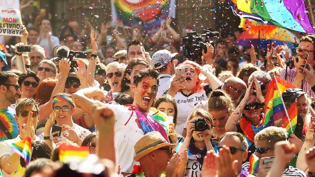 Australians have voted for marriage laws to be changed to allow same-sex marriage, with the Yes vote defeating No. Picture: Scott Barbour/Getty Images.
