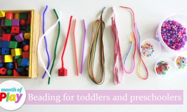 Beading for toddlers and preschoolers