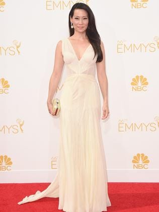 Lucy Liu attends the 66th Annual Primetime Emmy Awards.
