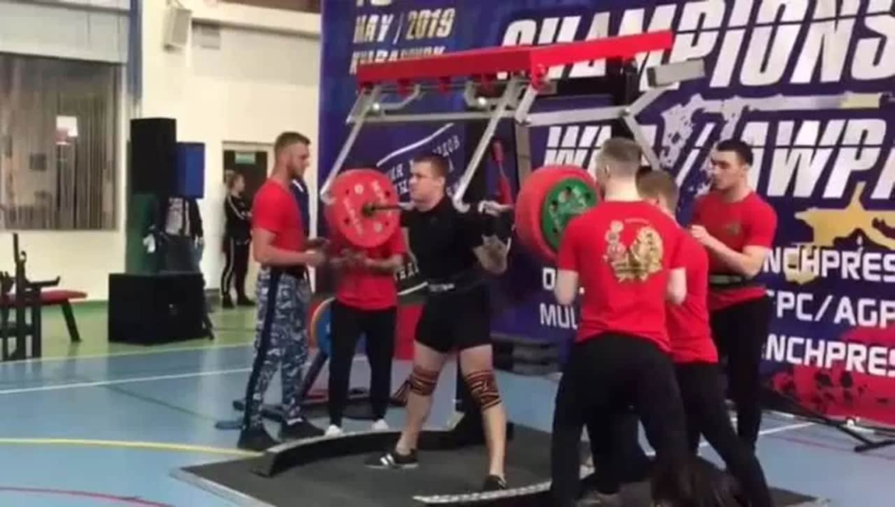 658af8cbe8 Russian powerlifter Yaroslav Radoshkevich prepares to lift 250kg at an  event in Russia.