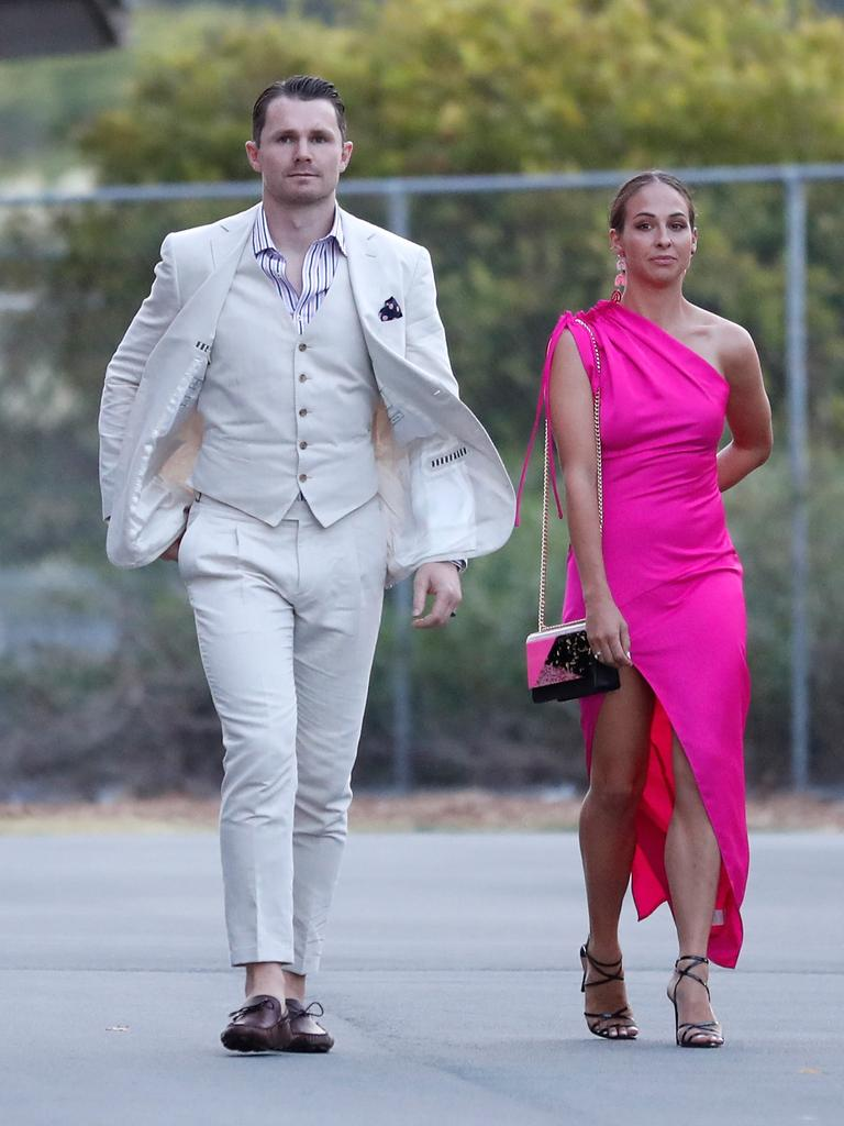 Patrick Dangerfield makes a statement with wife Mardi.