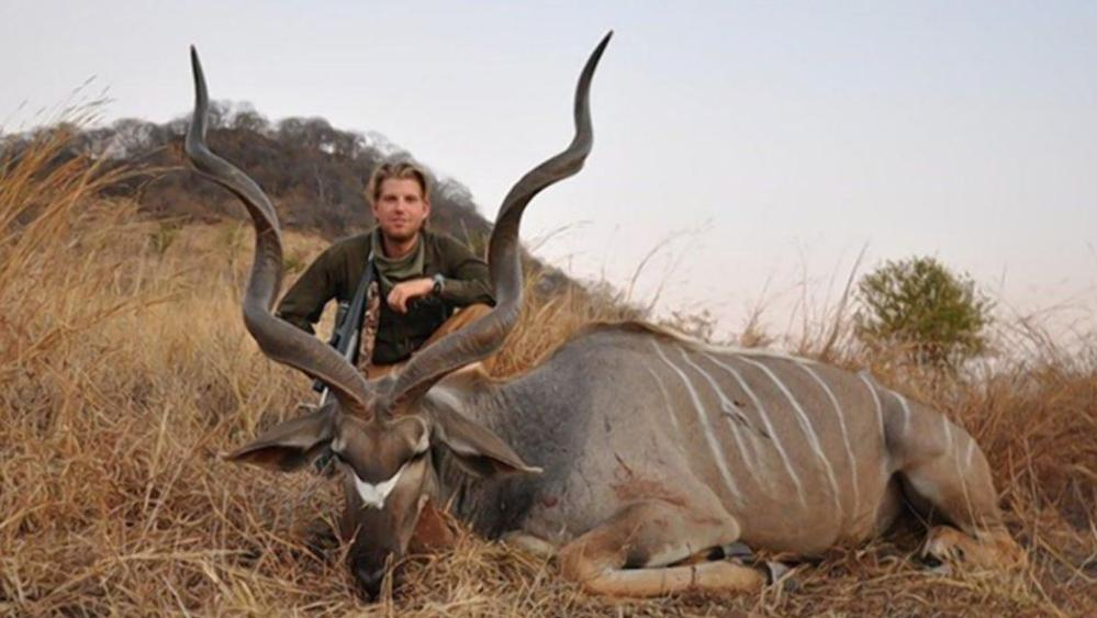 One Of Donald Trumps Sons Eric On A Hunt In Africa