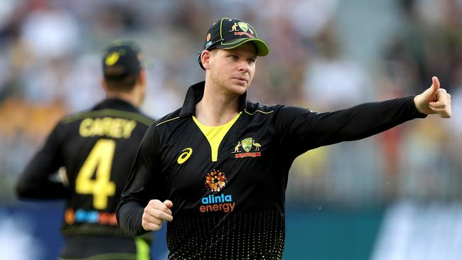 Smith played a starring role in Australia's T20 demolitions of Sri Lanka and Pakistan. Picture: AAP