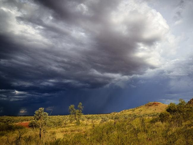 Thunderstorms over the Barkley region of the NT. Picture: Amos Aikman