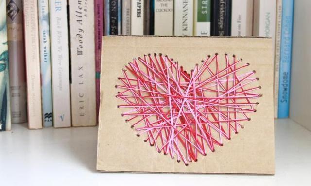Make a yarn heart card