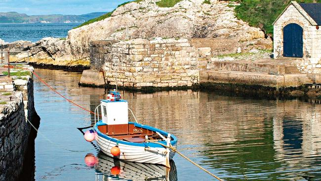 Ballintoy Harbour, which doubles as a port on the Iron Islands.