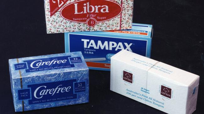 Taxing question: Why do tampons attract the GST? Picture: Supplied