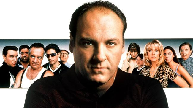 James Gandolfini and some of the cast of The Sopranos. Picture: Supplied