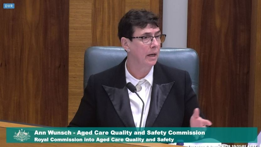 Ann Wunsch from the Aged Care Quality and Safety Commission speaks on Earle Haven at the Royal Commission into Aged Care Quality and Safety.