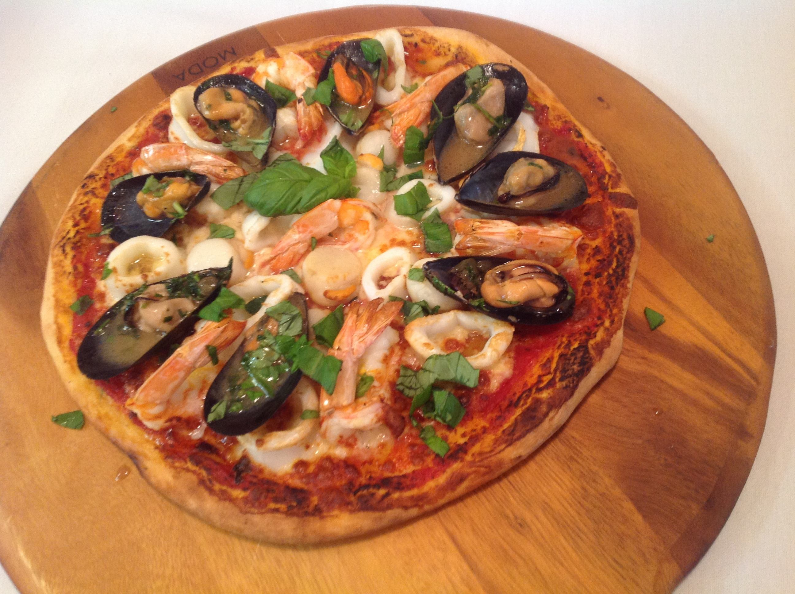 Supplied Editorial Seafood pizza, by Michael Angelakis