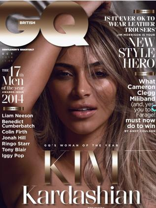 Kandid Kim ... British GQ's latest cover featuring reality television star Kim Kardashian in the nude. Picture: Supplied