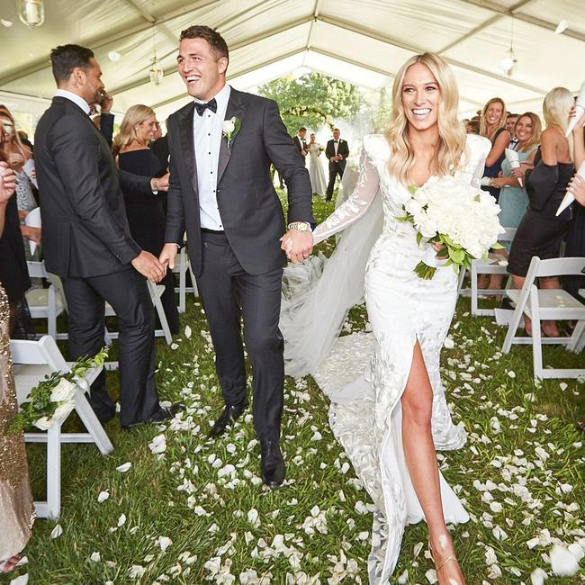 The couple married in a lavish ceremony after a whirlwind romance. Picture: Paul Seusse.