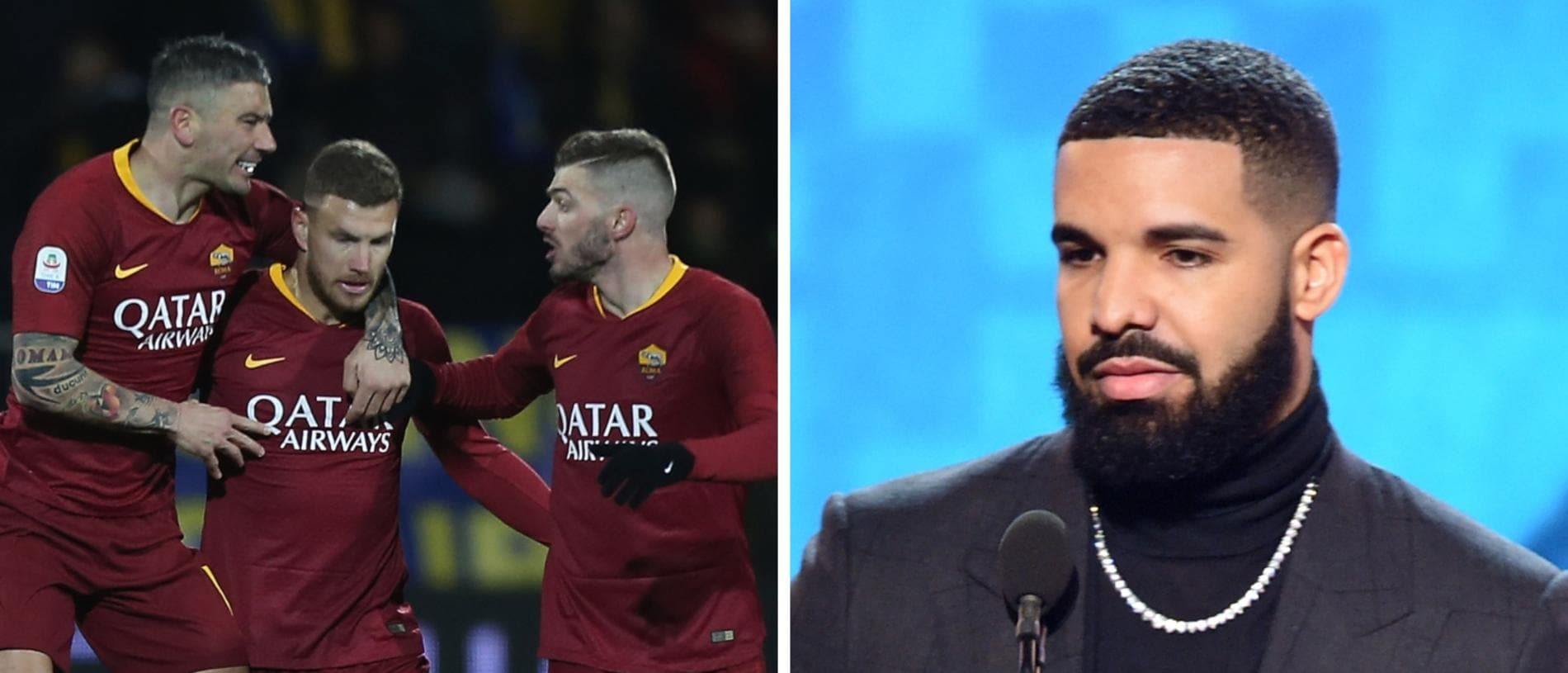 Roma have banned their players from taking photos with Drake