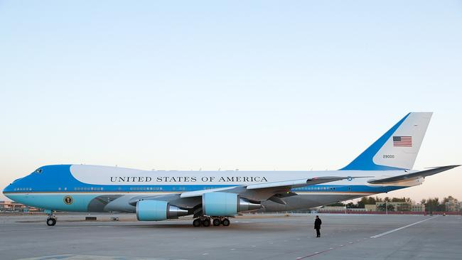 The daddy of them all, President Barack Obama's Air Force One. The specially-designed Boeing 747, pictured here in China during the week, is considered the most advanced aircraft in the sky. Picture: Getty